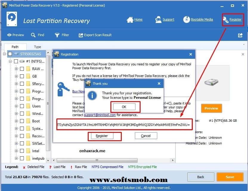 MiniTool Power Data Recovery 8.0 Registration Key